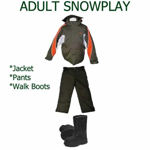 Adult Snowplay Hire Pack