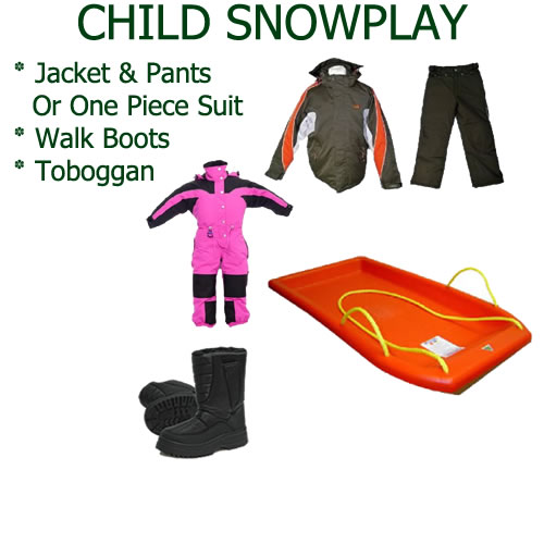 Child Snowplay Hire Pack