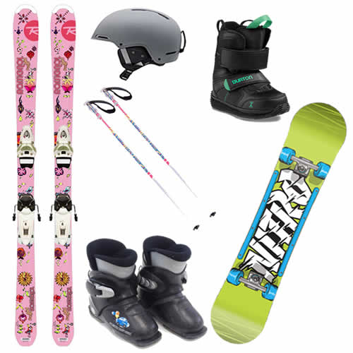 Child Ski and Snowboard gear