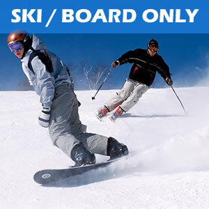 Hire Ski or Snowboard only - does not include any boots or poles