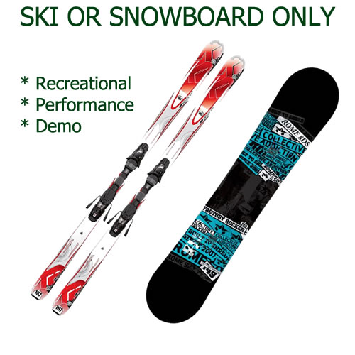 Ski or Snowboard Only Hire - Jindabyne
