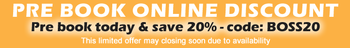 SAVE 20% - PRE ORDER HIRE ONLINE